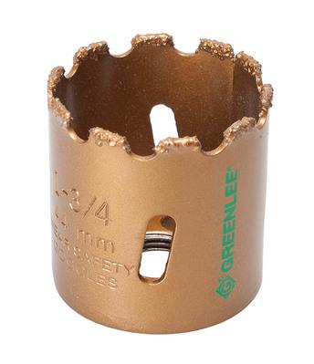 Greenlee 725-1-3/4 Greenlee 725-1-3/4 Hole Saw; 1-3/4 Inch, Tungsten Carbide Grit