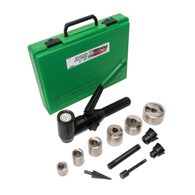Greenlee 7908SBSP Greenlee 7908SBSP Speed Punch® Knockout Speed Punch Kit With Driver; 0.885 - 2.416 Inch Hole, 1/2 - 4 Inch Conduit/Pipe