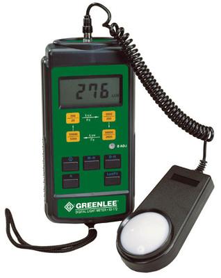Greenlee 93-172 Greenlee 93-172 Digital Light Meter; 0.01 - 5000 FC (20/200/2000/5000), 0.1 - 50000 LUX (200/2000/20000/50000)
