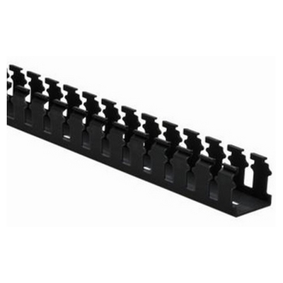 Hellermann Tyton 181-15505 Hellermann Tyton 181-15505 Pro-Duct Slotted Wall Wireduct; 6 ft Length x 1.500 Inch Width x 1.500 Inch Height, Non-Adhesive, PVC, Black