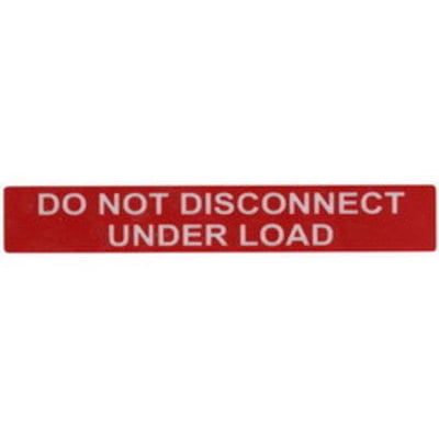 Hellermann Tyton 596-00244 Hellermann Tyton 596-00244 Pre-Printed Reflective Solar Label; 6.500 Inch Width x 1 Inch Height, White/Red, DO NOT DISCONNECT UNDER LOAD, 50/Roll