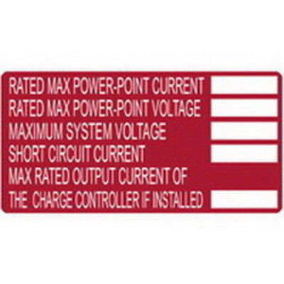 Hellermann Tyton 596-00253 Hellermann Tyton 596-00253 Printable Solar Label; 4 Inch Width x 2 Inch Height, White/Red, 50/Roll