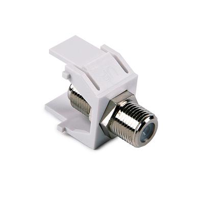 Hellermann Tyton FINSERT-W Hellermann Tyton FINSERT-W Female F-Type Connector Module; Box/Faceplate/Panel Mount, White