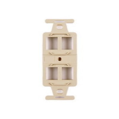 Hellermann Tyton FP106MF4-I Hellermann Tyton FP106MF4-I 106 Duplex Mounting Frame Faceplate; 1-Gang, 4-Port, In-Wall Mount, Ivory