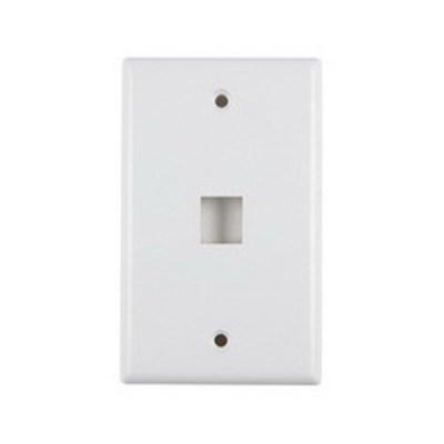 Hellermann Tyton FPSINGLE-W Hellermann Tyton FPSINGLE-W 1-Gang Faceplate; Flush, (1) Port, ABS, White