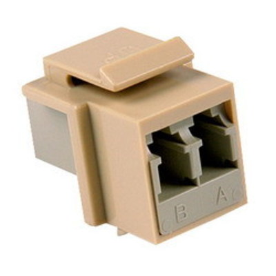 Hellermann Tyton LCINSERT-I Hellermann Tyton LCINSERT-I HelaNet™ Duplex Fiber Module; Single Mode/Multi Mode, Ivory