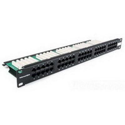 Hellermann Tyton PP110C350 Hellermann Tyton PP110C350 110-Punchdown Category 3 RJ45 Modular Voice Patch Panel; Rack Mount, 50-Pair, 50-Port, 1-Rack Unit