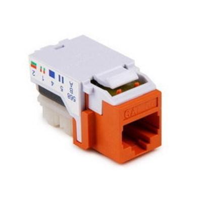 Hellermann Tyton RJ45FC5E-ORN Hellermann Tyton RJ45FC5E-ORN Category 5e Keystone Modular Jack; 10P8C, Orange