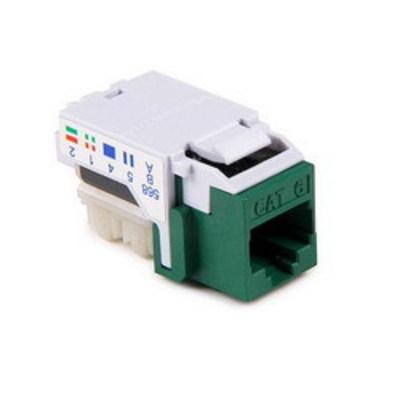 Hellermann Tyton RJ45FC6-GRN Hellermann Tyton RJ45FC6-GRN Category 6 RJ45 Keystone Modular Jack; Green