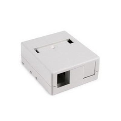 Hellermann Tyton SMBDUAL-FW Hellermann Tyton SMBDUAL-FW Surface Mount Box; Screw Mount, PVC, Off-White, (2) Port