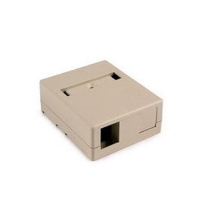 Hellermann Tyton SMBDUAL-I Hellermann Tyton SMBDUAL-I Surface Mount Box; Screw Mount, PVC, Ivory, (2) Port