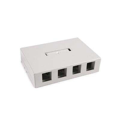 Hellermann Tyton SMBQUAD-FW Hellermann Tyton SMBQUAD-FW Surface Mount Box; Screw Mount, PVC, Off-White, (4) Port
