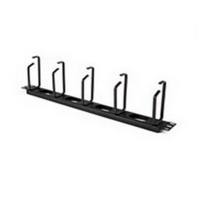 Hellermann Tyton THCO1 Hellermann Tyton THCO1 Horizontal Cable Organizer With 4 feed Through Holes; 1-Rack Unit, Metal, Black