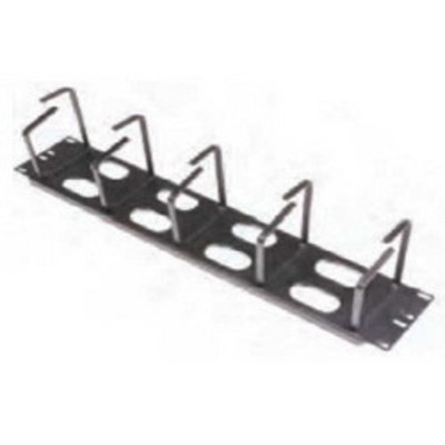 Hellermann Tyton THCO2 Hellermann Tyton THCO2 Horizontal Cable Organizer With 8 feed Through Holes; 2-Rack Unit, Metal, Black
