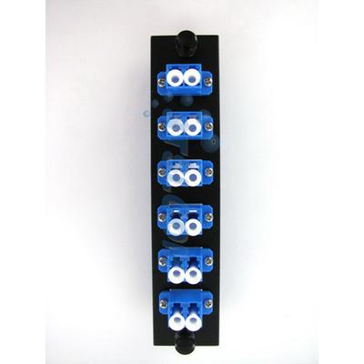 Hubbell Premise Wiring FSPLC6 Hubbell Premise FSPLC6 OptiChannel™ Standard LC Pre-Loaded FSP Adapter Panel; Snap-In Mount, Multimode, 125 um, 6 Duplex Fibers, Blue
