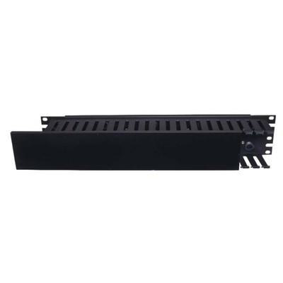 Hubbell Premise Wiring HC119CC3P Hubbell Wiring HC119CC3P Duct Organizer; 19 Inch Length x 8.120 Inch Width x 1.750 Inch Height, Extruded PVC Duct and Cover, 16 Gauge Cold Rolled Steel Panel, Black