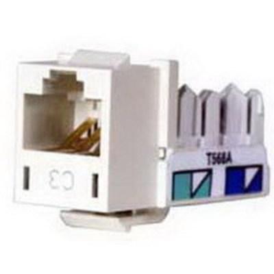 Hubbell Premise Wiring HXJ3AL Hubbell Premise HXJ3AL Xcelerator™ Category 3 Universal Modular Keystone Jack; 1-Port, 8-Positions, High Impact Thermoplastic Housing, Lexan Stuffer Cap, Polypropylene Dust Cover, Almond
