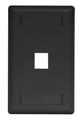 Hubbell Premise Wiring IFP11BK Hubbell Wiring IFP11BK Istation™ 1-Gang Faceplate; 1-Port, Flush Mount, ABS, Black