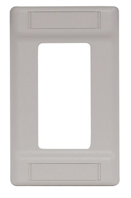 Hubbell Premise Wiring IFP126OW Hubbell Wiring IFP126OW Istation™ 1-Gang Cover Plate with Label Field; (1) Decorator, Flush Mount, ABS, Office White