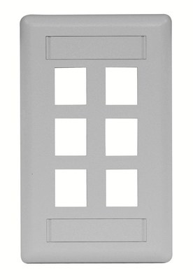 Hubbell Premise Wiring IFP16GY Hubbell Premise IFP16GY Hubbell PLATE WALL FLUSH 1-