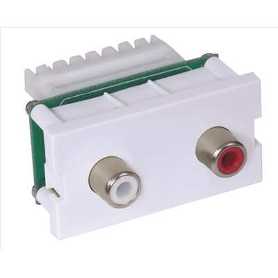 Hubbell Premise Wiring IMAR1101W Hubbell Premise IMAR1101W iSTATION™ AV Module With RC; White, Snap-On/Snap-Fit Mount