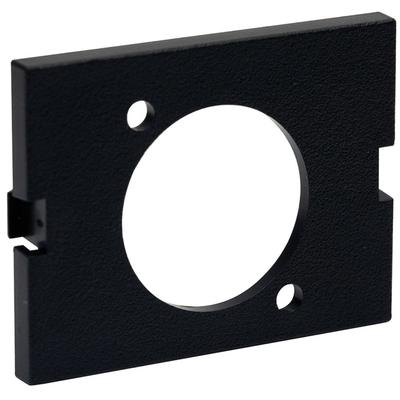 Hubbell Premise Wiring IMAVB15BK Hubbell Premise IMAVB15BK iSTATION™ Pro-AV 1.5 Unit Unloaded Standard Blank AV Module; Panel/Snap-On/Snap-Fit Mount, Black