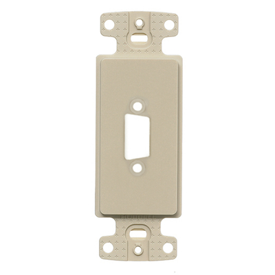 Hubbell Premise Wiring ISFB15EI Hubbell Wiring ISFB15EI Istation™ Unloaded 1-Gang Decorator Outlet Frame; 15-Pin/9-Pin HDMI Blank, Screw Mount, ABS, Electric Ivory