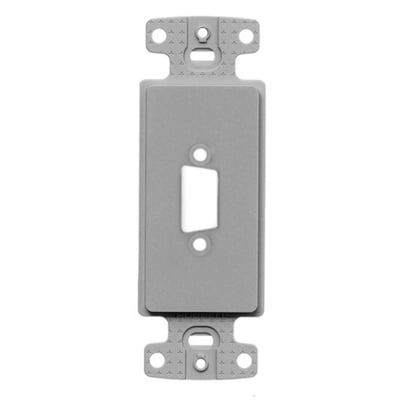 Hubbell Premise Wiring ISFB15GY Hubbell Premise ISFB15GY Plate Decorator 15PIN FrameBlankGy
