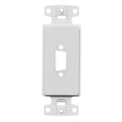 Hubbell Premise Wiring ISFB15W Hubbell Premise ISFB15W Blank Decorator Outlet Frame; White