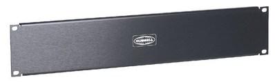 Hubbell Premise Wiring MCCBP350 Hubbell Premise MCCBP350 2U Filler Panel; Aluminum, Black