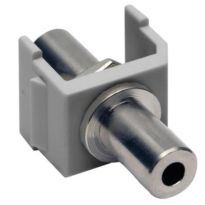Hubbell Premise Wiring SF35FFGY Hubbell Wiring SF35FFGY 3.5 mm AV Keystone Stereo Jack; Screw Terminal Connection, Brass Body, Gray
