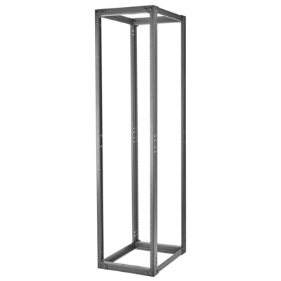 Hubbell Premise Wiring SF841929T Hubbell Wiring SF841929T 4-Post 45U Equipment Rack; 84 Inch Height x 20.2 Inch Width x 24 Inch Depth, Cold-Rolled Steel
