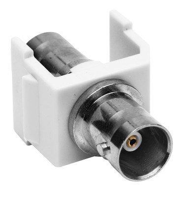 Hubbell Premise Wiring SFBW Hubbell Premise SFBW BNC Connector; Female x Female, Snap-Fit, White, Nickel