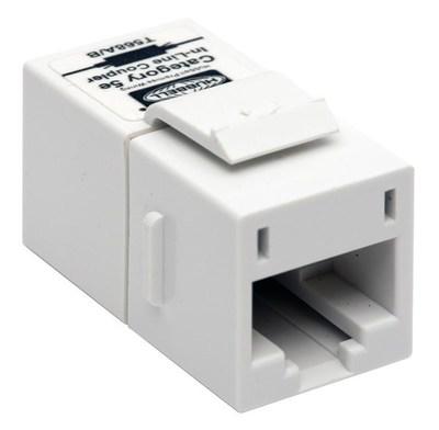 Hubbell Premise Wiring SFC5EW Hubbell Premise SFC5EW SnapFit Inline CouplerSlimCAT5EWh