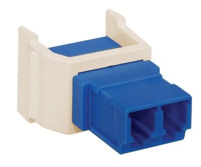 Hubbell Premise Wiring SFLCLA Hubbell Premise SFLCLA OptiChannel™ LC Keystone Adapter; Snap-Fit Mount, Singlemode/Multimode, Light Almond