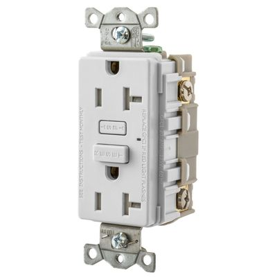 Hubbell Wiring Device-Kellems GFT20W GFT20W HUBBELL WD 20A HUBBELL PRO GFR TR WHITE