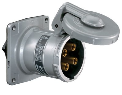Hubbell Wiring Device-Kellems HBL460RS1WR HBL460RS1WR HUBBELL WD PS, INS, RECP, 3P4W, 60A 600V, S1 REV
