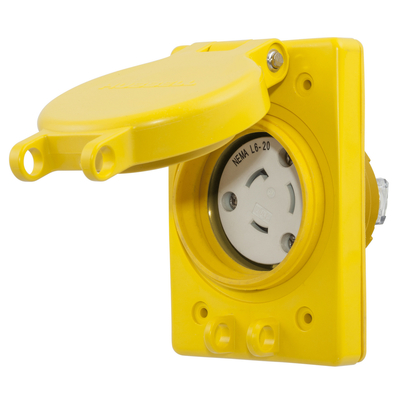 Hubbell Wiring Device-Kellems HBL67W48 HBL67W48 HUBBELL WD WATERTIGHT RECEP ASSY,NEMA L6-20R