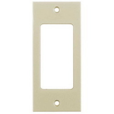 Hubbell Wiring Device-Kellems HBLDE301SI Hubbell Wiring HBLDE301SI Multi-Connect® Rectangular Non-Metallic 1-Gang Modular Face Plate; Screw Mount, Ivory, (1) Style Line&reg