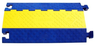 Hubbell Wiring Device-Kellems HBLTT2B Hubbell Wiring HBLTT2B TrukTrak® High Visibility Modular Cable Protection System; 36 Inch Length x 4.13 Inch Height, 3-1/4 Inch Height x 3-1/4 Inch Width Channel, Reinforced Fiberglass, Blue and Yellow