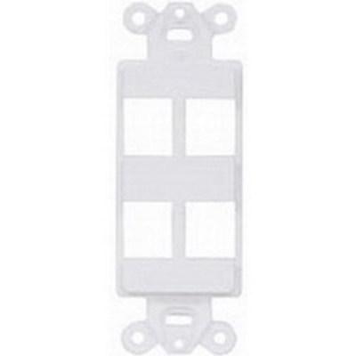 Hubbell Wiring Device-Kellems ISF4BK Hubbell Premise ISF4BK 1-Gang Decorator Outlet Frame; Screw, (4) Port, Keystone, High Impact Nylon, Black