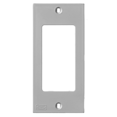 Hubbell Wiring Device-Kellems KP26GY Hubbell Wiring KP26GY Faceplate; 1-Gang, DIN-Rail Mount, Gray