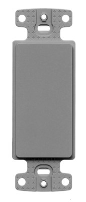 Hubbell Wiring Device-Kellems NS620GY Hubbell Wiring NS620GY Netselect® 1-Gang Decorator Frame; Blank, Screw Mount, High Impact Resistant Thermoplastic, Gray
