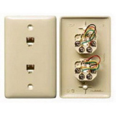 Hubbell Wiring Device-Kellems NS742LA Hubbell Wiring NS742LA Netselect® Standard Size 1-Gang Molded-In Plate; Wall Mount, Thermoplastic, Light Almond