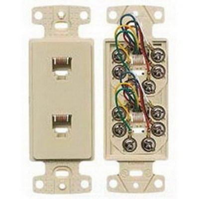 Hubbell Wiring Device-Kellems NS772LA Hubbell Wiring NS772LA Netselect® Standard Size Decorator Frame; Wall Mount, Thermoplastic, Light Almond