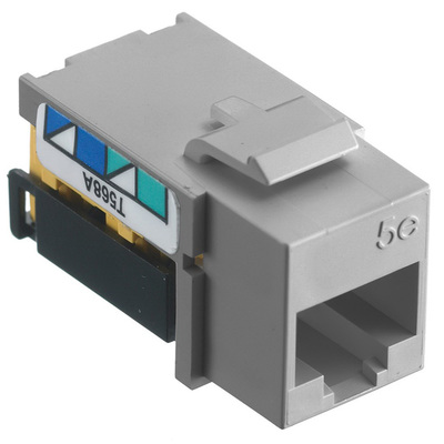 Hubbell Wiring Device-Kellems NSJ5EGY25 Hubbell Wiring NSJ5EGY25 TradeSelect® Standard Size Category 5e Modular Jack; 8P, Gray, 25/Pack