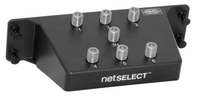 Hubbell Wiring Device-Kellems NSOVM6 Hubbell Wiring NSOVM6 NETSELECT® 6-Way Coax Splitter Module; Plastic, Black, Powder-Coated