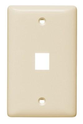 Hubbell Wiring Device-Kellems NSP101LA Hubbell NSP101LA Plate WallLabelLessMidsize1PortLa