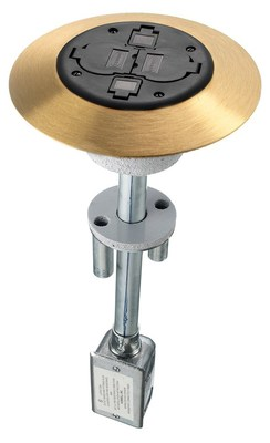 Hubbell Wiring Device-Kellems PT2X2BRS PT2X2BRS HUBBELL WD FRPT, 2X2, COMP UNIT, BRS
