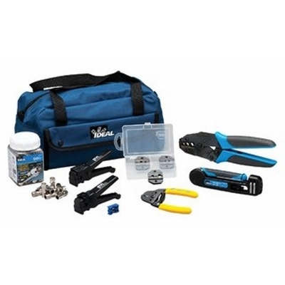 Ideal 33-410 Ideal 33-410 RF Coaxial Crimp and Compression Kit; For Video (Broadcast Or CCTV) Coax Installation Or Repair